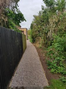 The new path from the Rectory