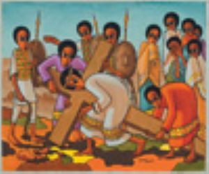 5 Women are wailing Jesus carries his cross to the place of execution. Based on Luke 23.26-27