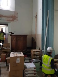 The pulpit where it will end up (and where it started)