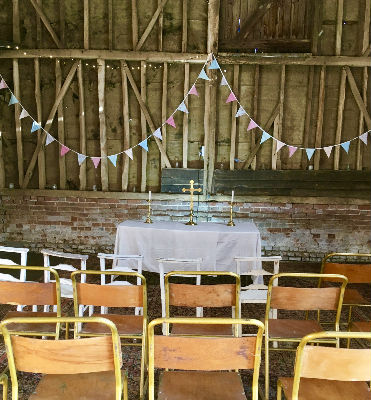 Altar in the barn