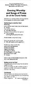 Evening Worship PDF