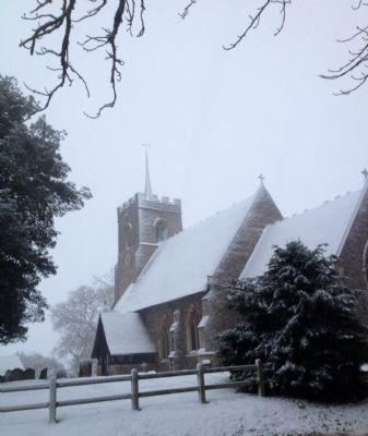 Brent Pelham in the Snow