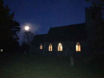 moonlight over the church