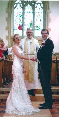 Revd James Sawyer taking a wedding