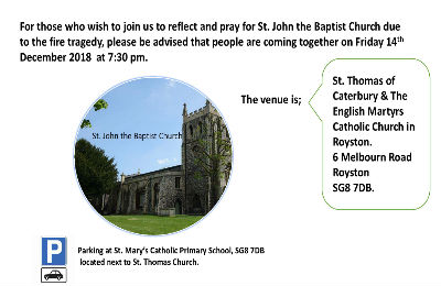 invitation to join congregation of Royston church on 14th DEC