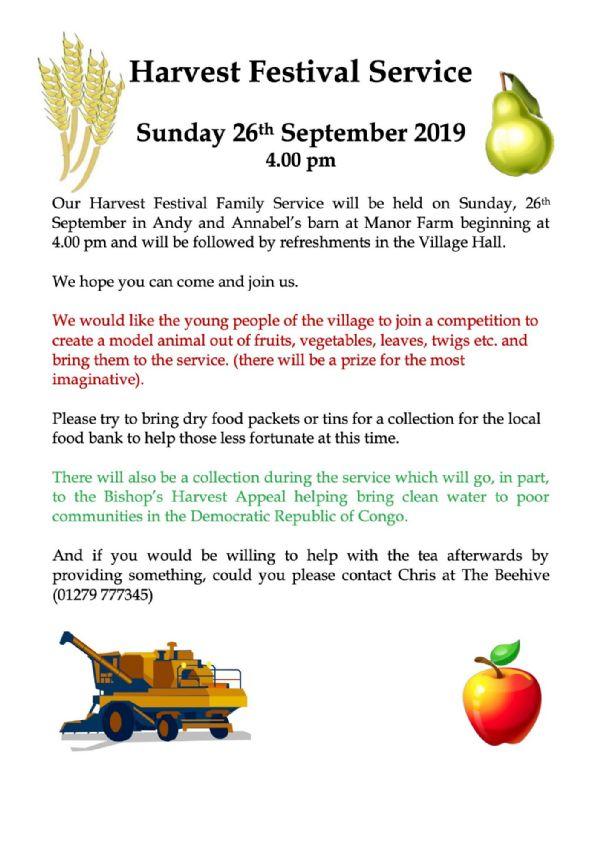 Meesden village Harvest Poster