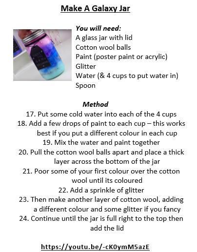 Make A Galaxy Jar