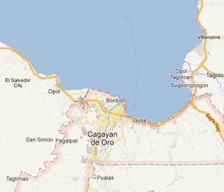 map of Cagayan area