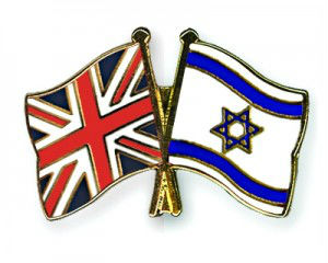 British and Israeli Flags