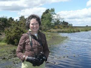 Anita birdwatching