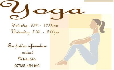 Yoga leaflet