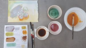 paper and food paint