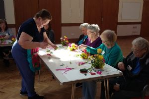 Young at Heart - making paper flowers