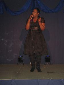 Beverley Trotman on stage