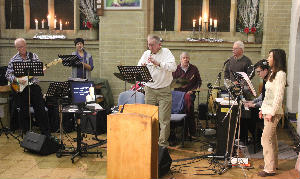 Carol Singing Record Attempt - band