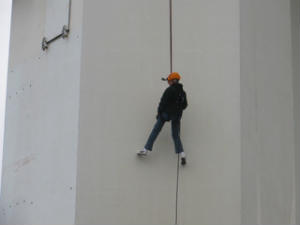 Helen Webster Abseiling on the Spinnaker Tower