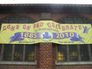 St Johns 1885-2010 banner