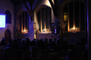 Christingle dark church