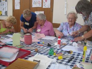 Over 60s making cards
