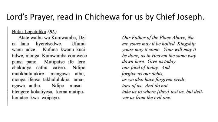 Lord's Prayer in Chichewa