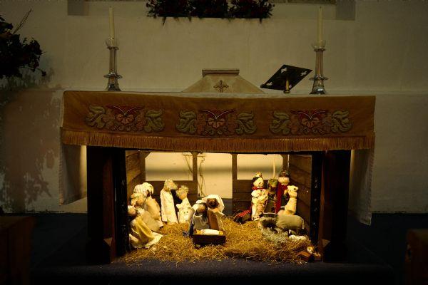 Nativity scene at Girton 2018