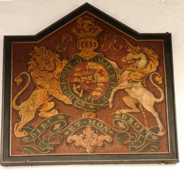 Royal Arms in Girton Church