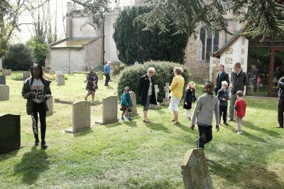 Easter Egg Hunt in the Churchyard 2017