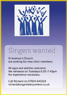 Singers for our choir