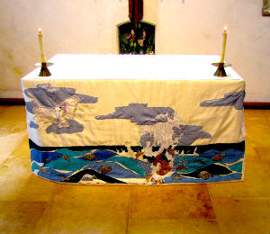 photo of new altar