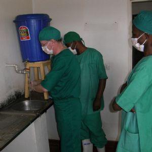 Scrubbing up in Rwanda