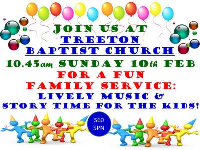 Invitation to Family Service 10.45 10 02 19