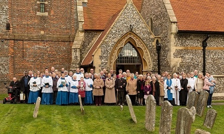 St Michaels church - people and building