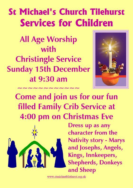 December 2019 Christingle & Crib Services