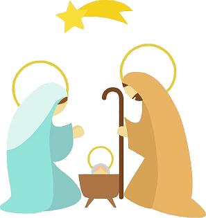 Baby Jesus with Mary and Joseph