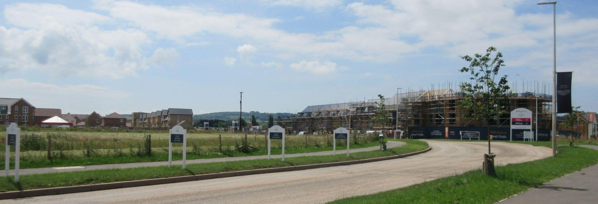 Road into Mead Field Estate