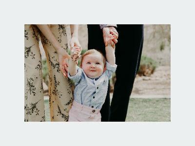guiding toddler