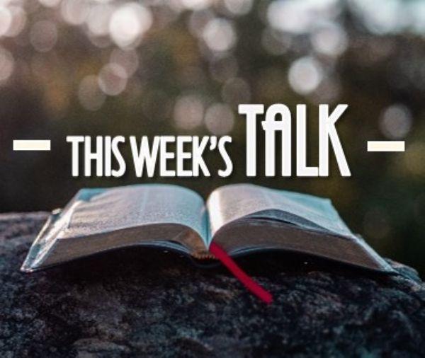this week's talk