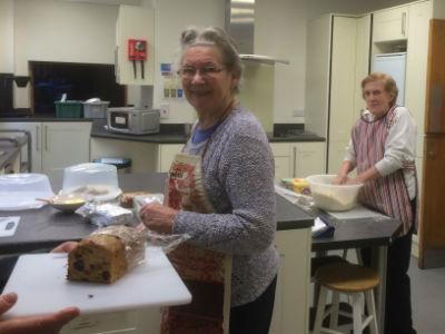 preparing scones