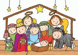 children drawing of a nativity