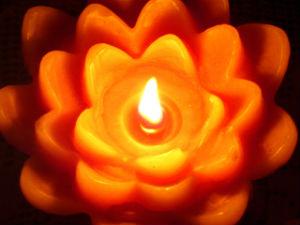 christmas candle alight
