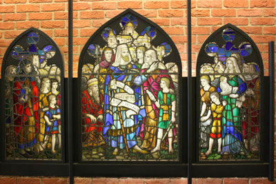 stained glass window from 1908 church