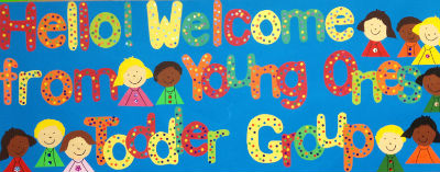 toddlers welcome sign