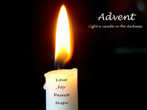 single advent candle