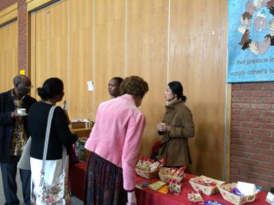 traidcraft stall at harrow Baptist Church