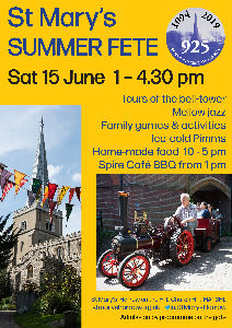 summer fair poster st marys church