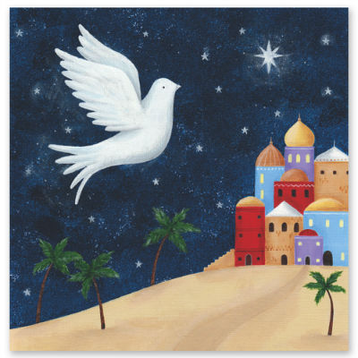 christmas card embrace middle east