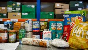 food at Harrow food bank