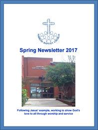 spring newsletter 2017 Harrow Baptist Church