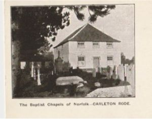 Carleton Rode Baptist Church - an early image