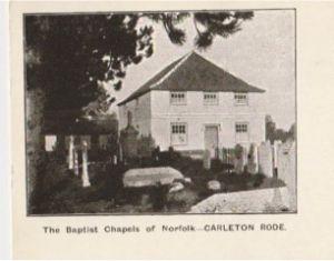 Carleton Rode Baptist Church - an early image